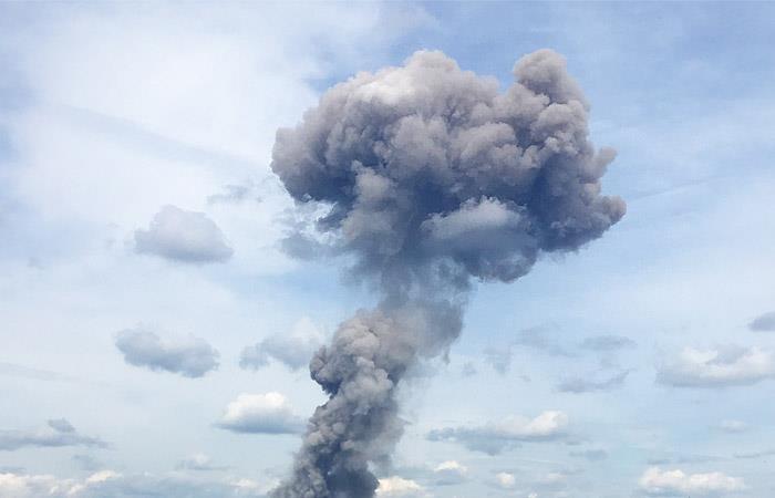 Взрыв на полигоне под Архангельском