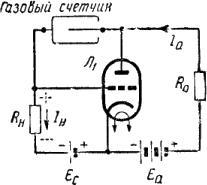 Схема гасящего устройства ионизационного счётчика