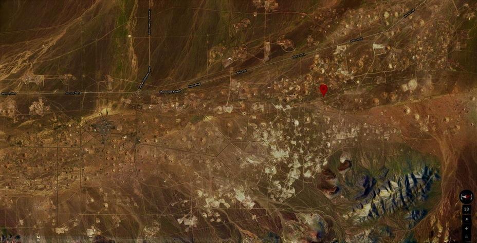 Испытательный ядерный полигон в Неваде, США google.com/maps - Координаты Warspot: испытательный полигон в Неваде | Warspot.ru