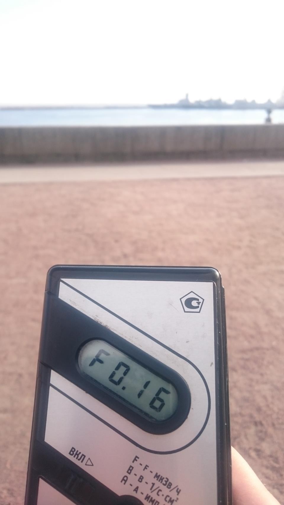 Точка измерения МЭД гамма-излучени в г.Кронштадт в Ленинградской области
