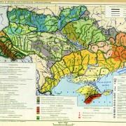 Карта ландшафтов Украины